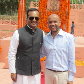 Gyan Shah of The Flag Corp, With Mr. Naveen Jindal