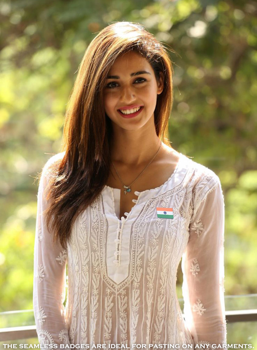 Indian Flag Badge on Women' sKurta