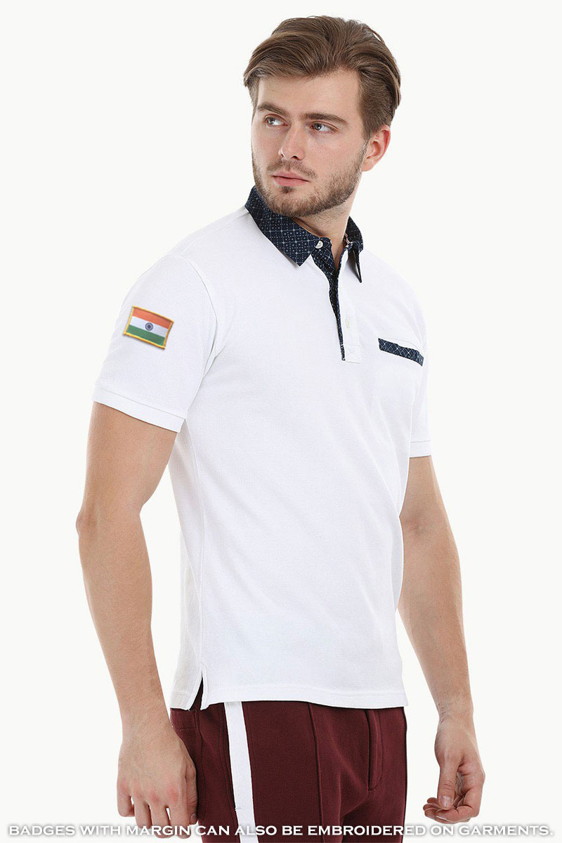 Indian Flag Badge embroidered on Shirts or Tshirts