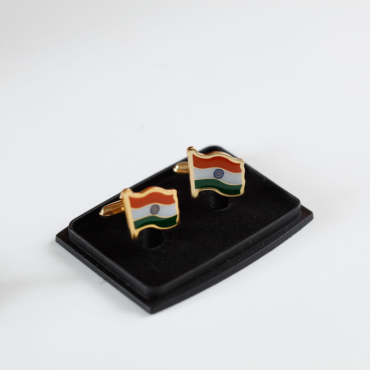 Indian Flag Gold-Plated Brass High Quality Cufflinks for Shirts