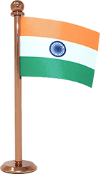 the flag corp indian car dashboard flag with a rose gold plated stand