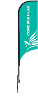 the flag corp concave flag banner with a ground spike