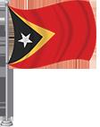 Timor Leste (East Timor) Flag