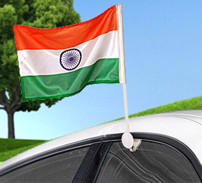 Car Window Indian Flags