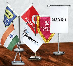 Customised Logo Desk Flags