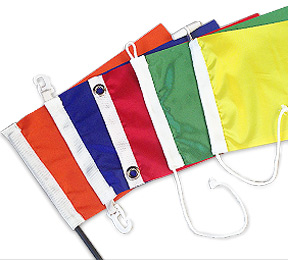 Rope/Toggle Flags, Flags with Grommets & Hollow Seam