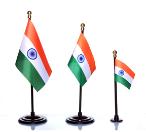 Different Size Indian Miniature Flags