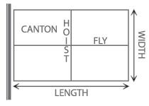 Flag Canton Hoist & Fly End