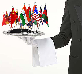 Flags On A Platter