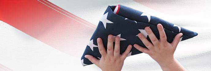 Holding The USA Flag