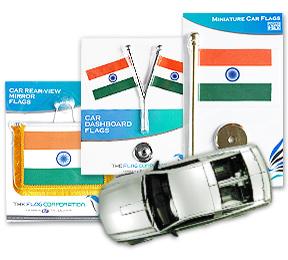 Car Dashboard & Windshield Indian Flags