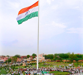 Giant Monumental Indian Flag At Sonipat