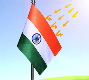 Fast Colours & UV Resistant Indian Flags