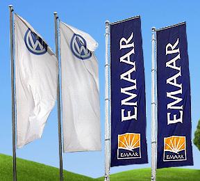 VW & Emaar Outdoor Vertical Flags