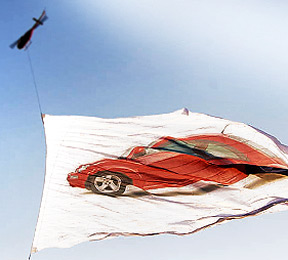 VW Giant Aerial Helicopter Flag