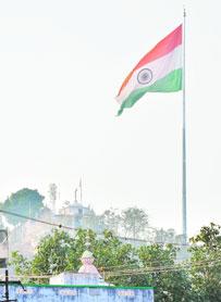ranchi pahadi mandir flag