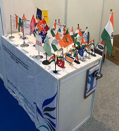 the flag shop stall at elecmat expo 2018
