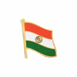 Indian National Flag Gold Plated Brass Lapel Pin / Brooch / Badge Small Size
