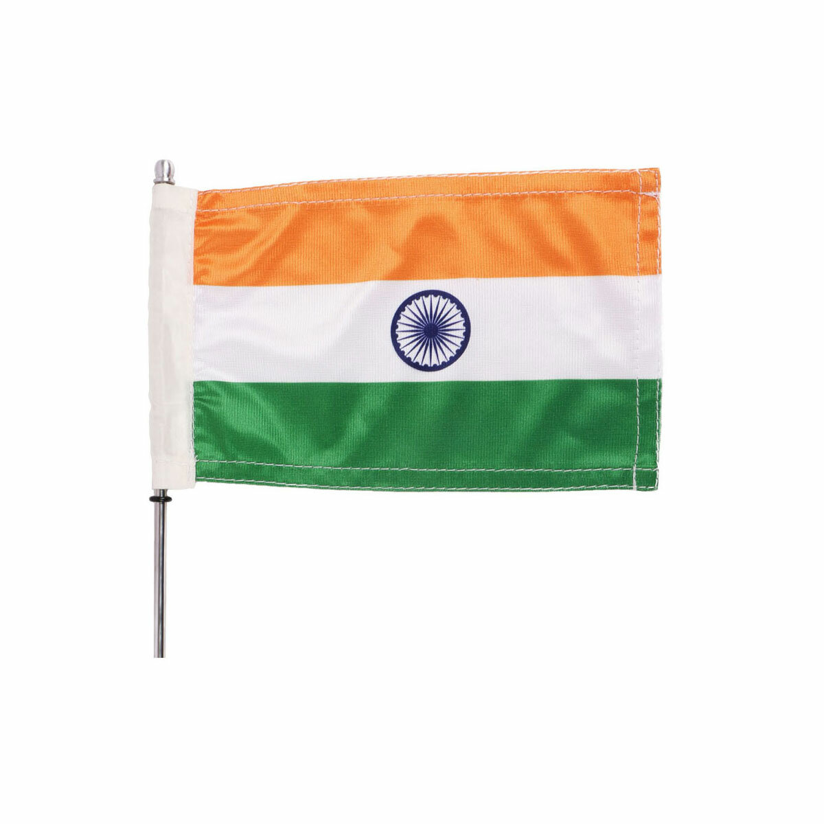durable indian flag for the bike, motorcycle, cycle, bicycle or boat