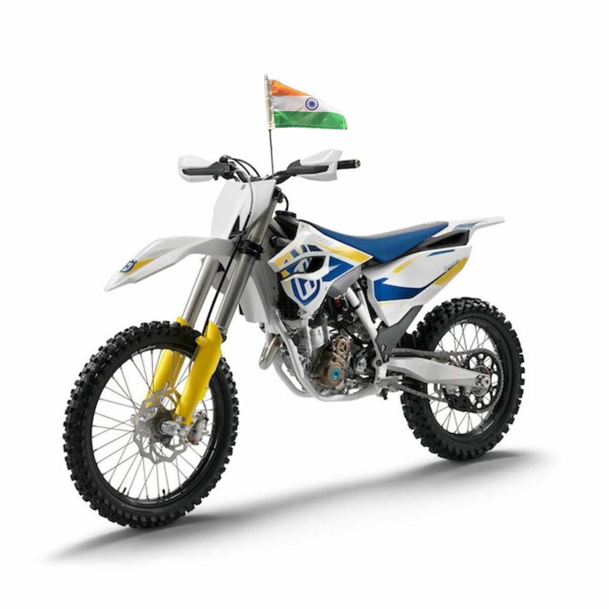 Durable Indian Flag Mounted On A Bike / Motorbike