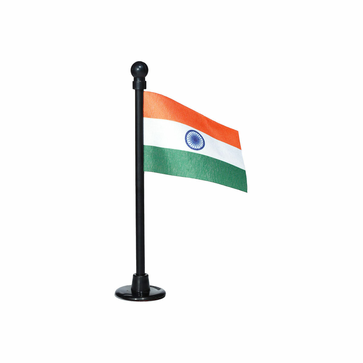 indian car dashboard flag with a black plastic stand / base