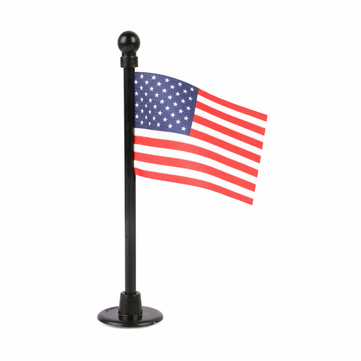 usa car dashboard flag with a black plastic stand / base