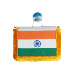 indian rear view mirror flag to put on cars windshield