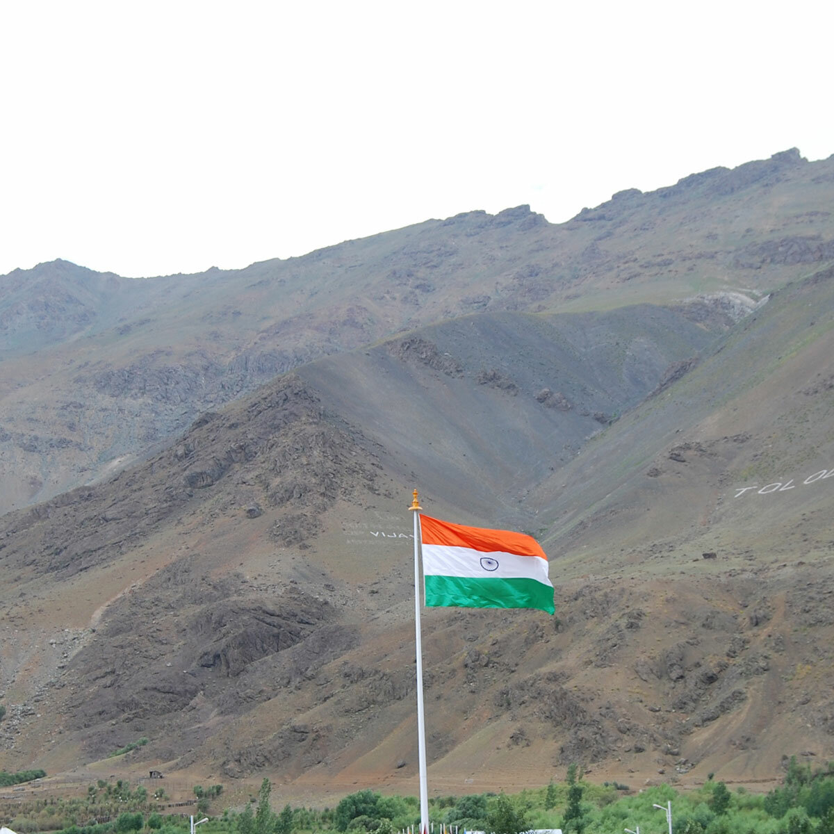Giant Indian Monumental Flag of 20ft x 30ft at Kargil War Memorial