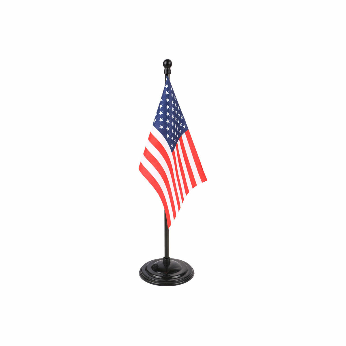 usa table or desk flag with a black plastic stand / base