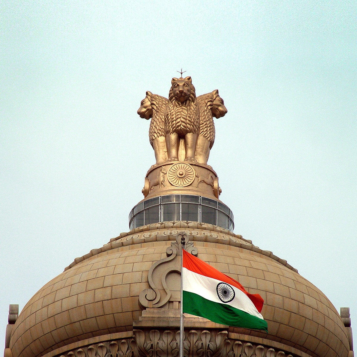 Outdoor Indian Flag On Vidhana Soudha, Bangalore, made by The Flag Corp