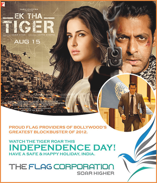 the flag corp are flag makers of ek tha tiger film