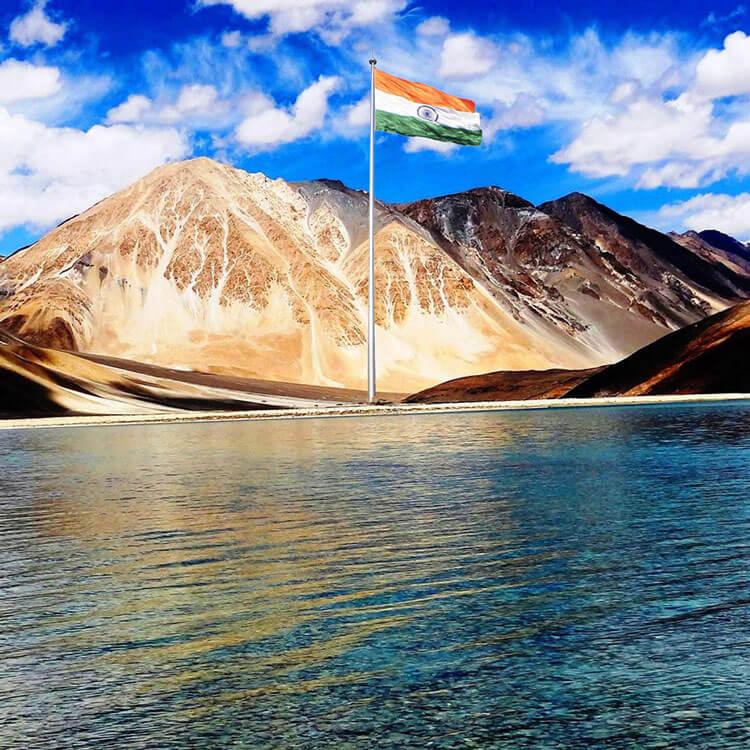 monumental giant indian flag at ladakh