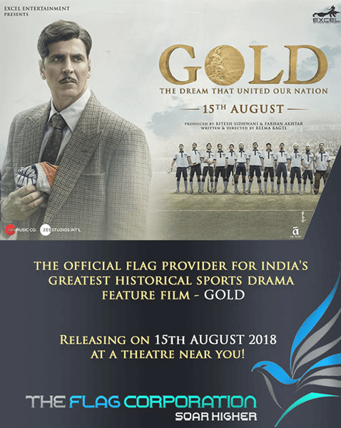 The Flag Shop are Flag Makers of Gold Film