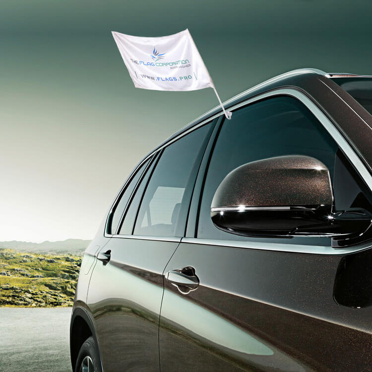 Shop Car Window Flags & Car Fender Flags For Outside Your Car