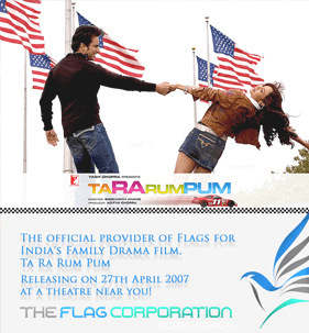 the flag corp are flag manufacturers of the film ta ra rum pum
